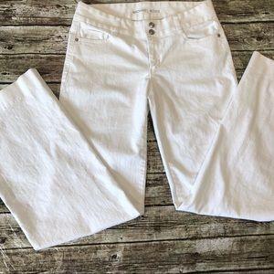 Michael Kors White Bootcut Jeans